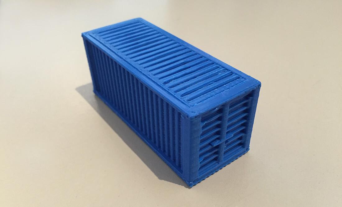 container impression 3D
