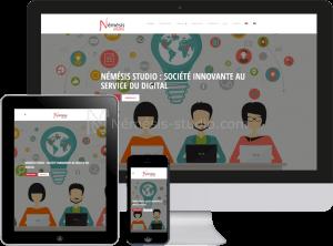 Site de Némésis studio en responsive design