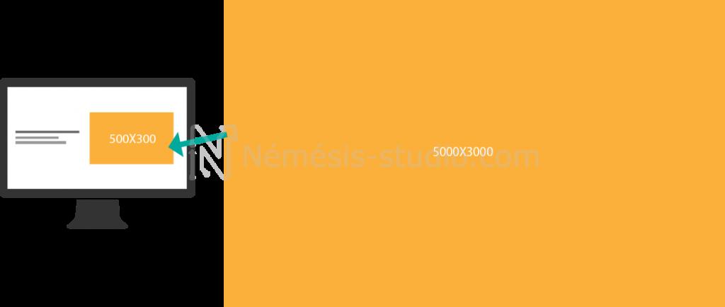 Redimensionner les visuels de votre site